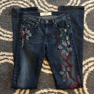 Miss Me Vintage Embroidered Jeans